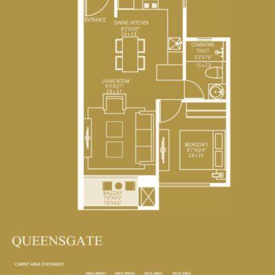 hiranandani-queensgate-1bhk-floor-plan